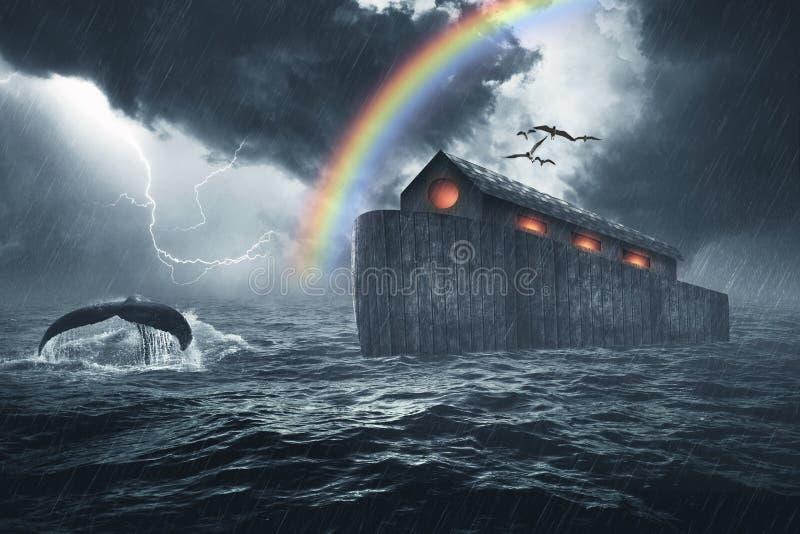 Historia de la biblia de la arca de Noah fotos de archivo