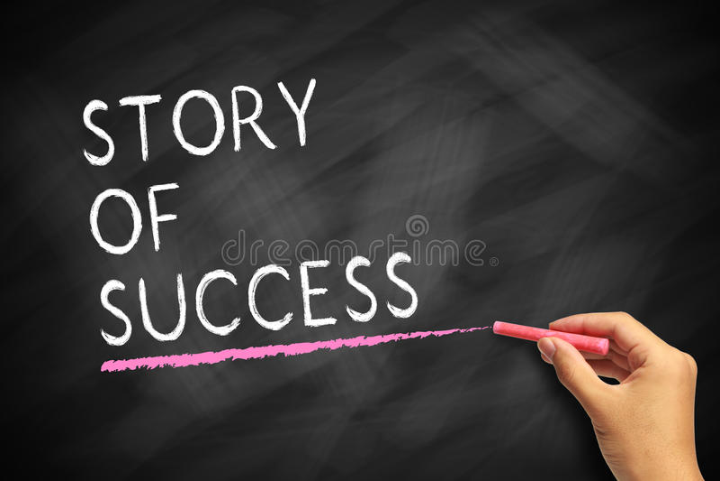 Historia del éxito fotografía de archivo