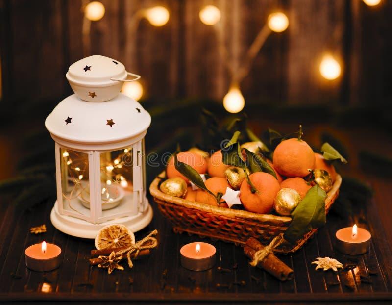Historia del Año Nuevo y de la Navidad imagen de archivo