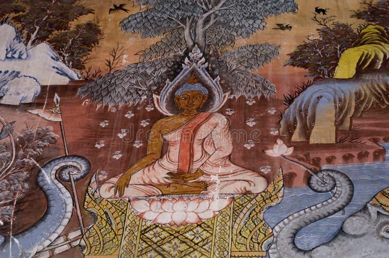Historia del bhuda del arte de la pintura mural en la - Pintar mural en pared ...