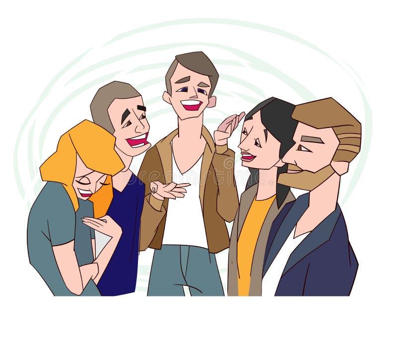Historia del ejemplo del vecor del concepto del carisma buena aislada libre illustration