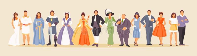 Historia del vector de la moda stock de ilustración