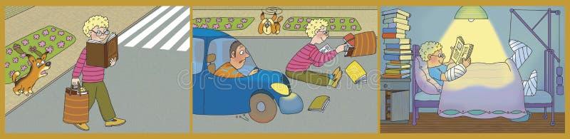 Historia en cuadros stock de ilustración