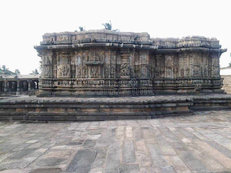 Historia en Somanathapura cerca de la ciudad de Mysore fotografía de archivo