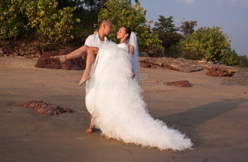 Historia miłosna na plaży obraz royalty free