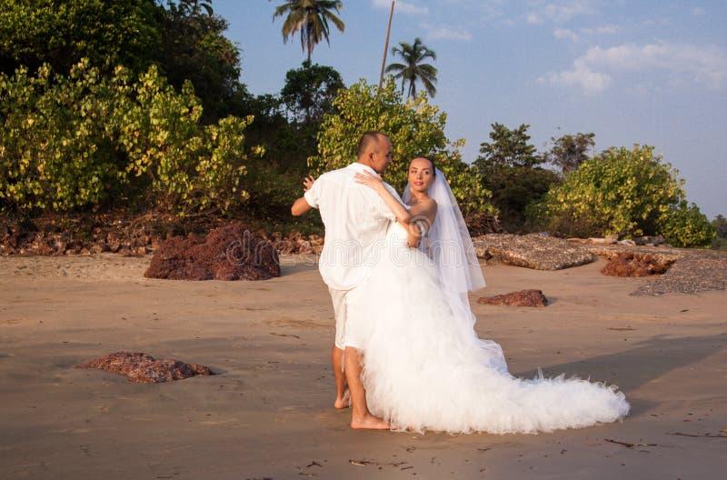 Historia miłosna na plaży obrazy stock