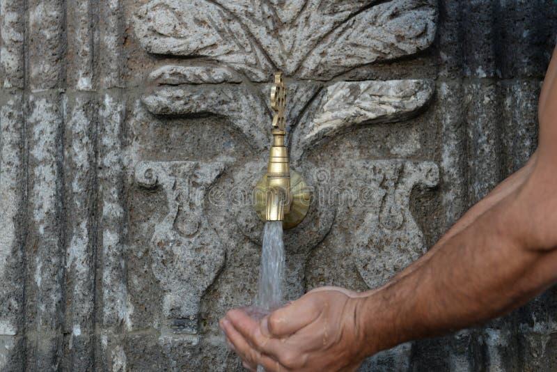 Historia naturalna wody pitnej fontanna zdjęcie royalty free