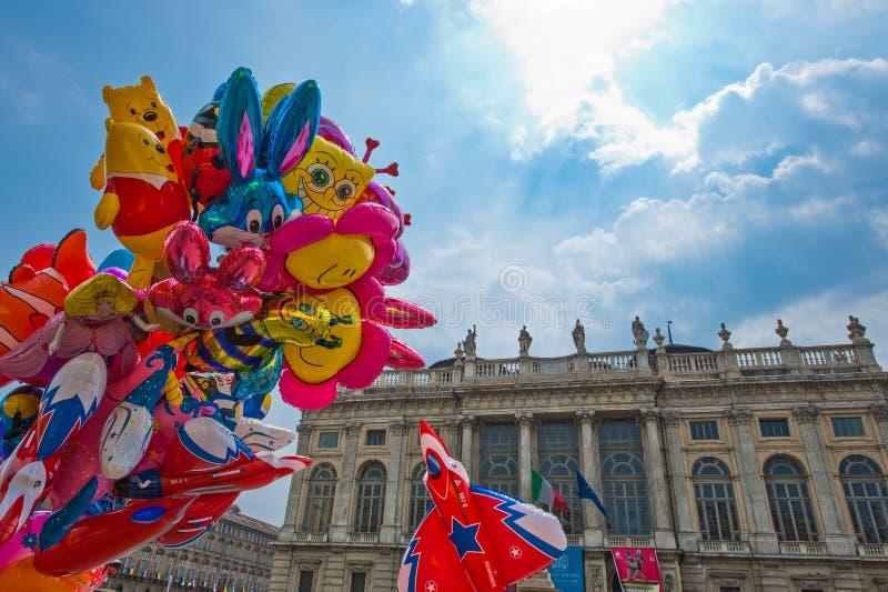 Historia och konst i Turin arkivbild