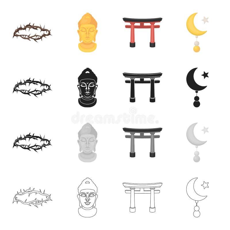 Historia tillskrivar religion stock illustrationer