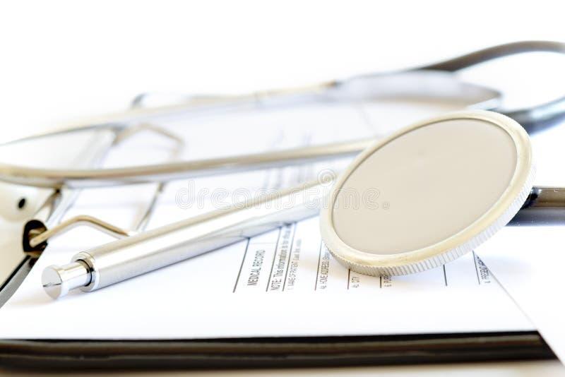 Historial médico paciente fotografía de archivo libre de regalías