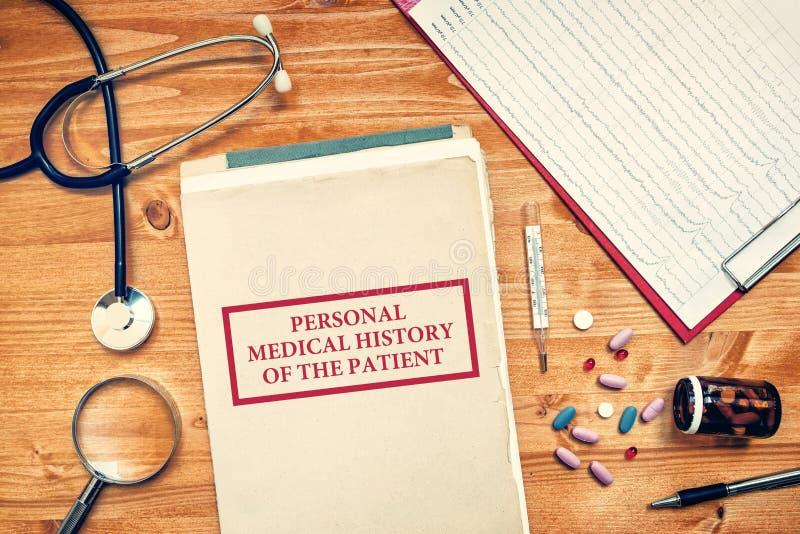 Historial médico personal del paciente, concepto de la atención sanitaria fotografía de archivo libre de regalías