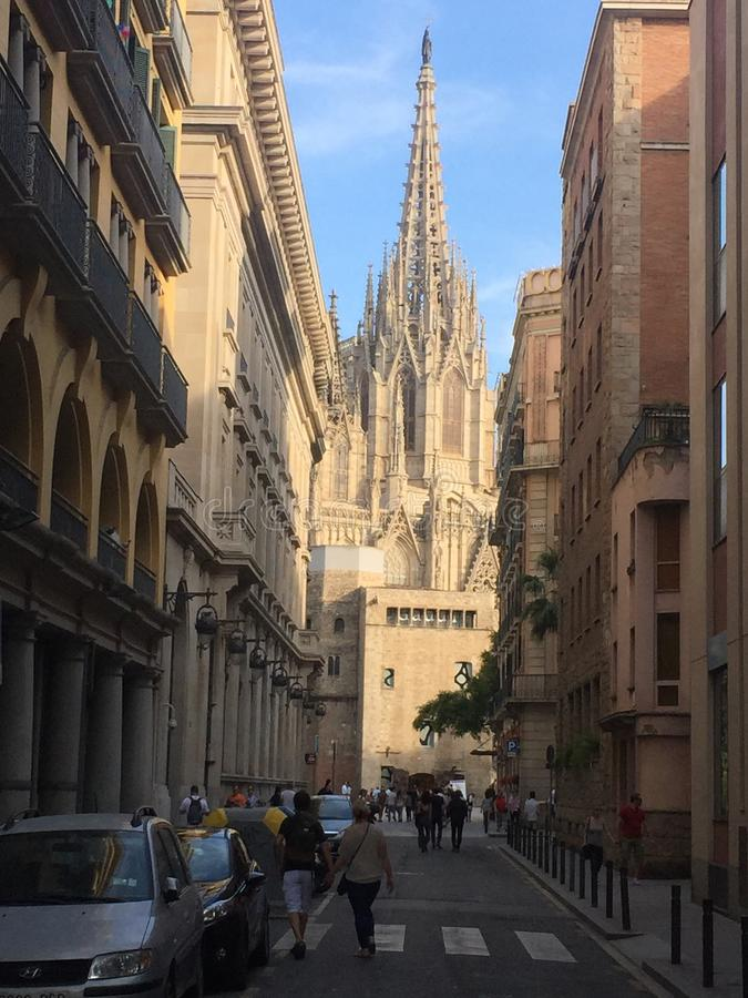 Historias que caminan: Catedral de Barcelona imagenes de archivo