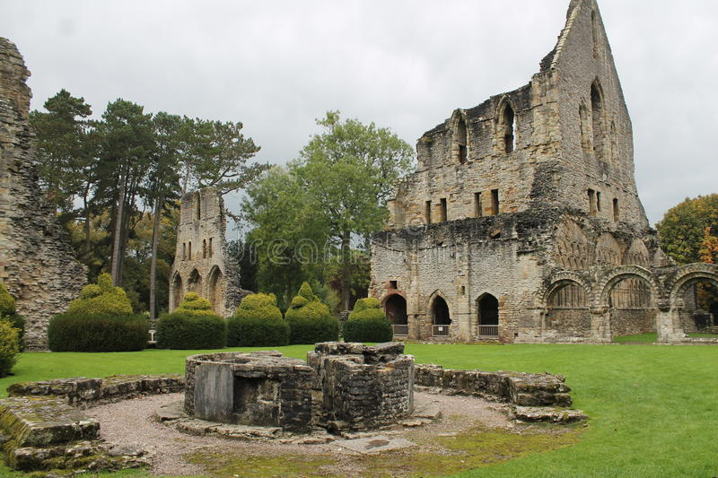 Download Historic abbey ruins stock image. Image of grass, iron - 67113873