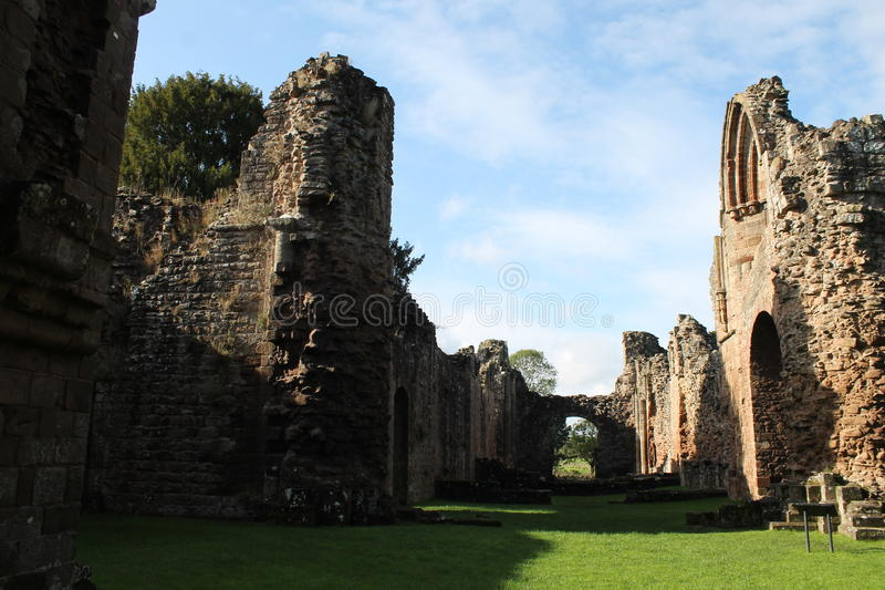 Download Historic Abbey Ruins With Sunlight And Shadows Stock Photo - Image: 67114058