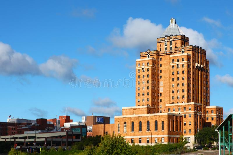 The historic Akron YMCA building in Akron, Ohio stock image