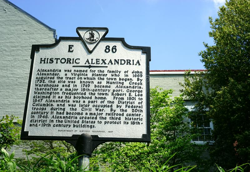 Historic Alexandria, Virginia - a must see royalty free stock image