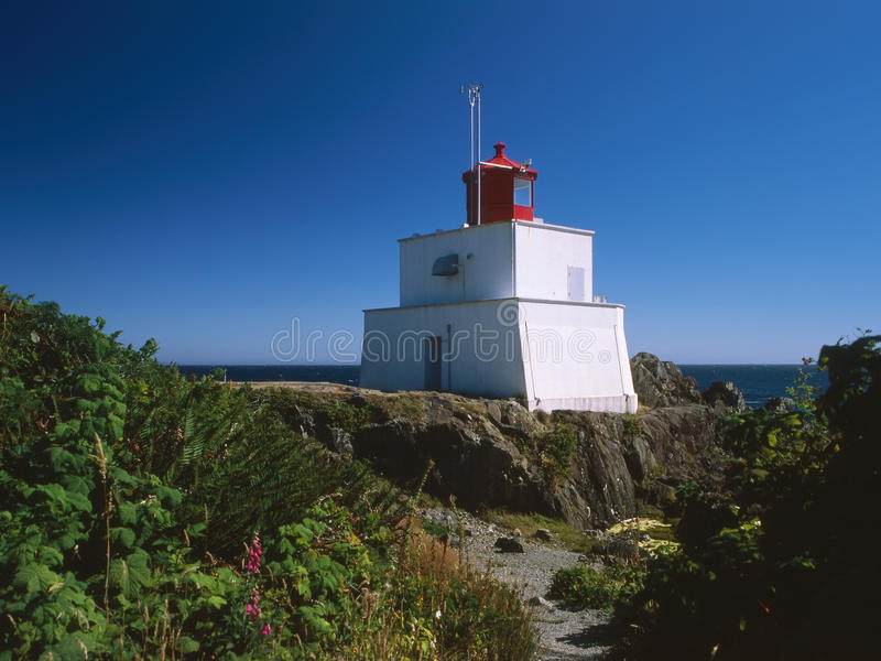 Historic Amphitrite Lighthouse, Ucluelet Stock Images