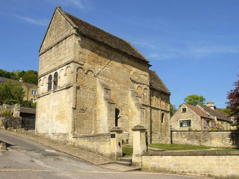 Historic St Laurence`s church, Bradford-on-Avon, Wiltshire, UK. Historic Anglo-Saxon church, St Laurence`s, Bradford-on-Avon, Wiltshire, UK stock photography