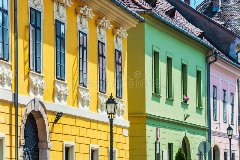 Historic architecture of Castle Hill in Budapest, Hungary.  stock images
