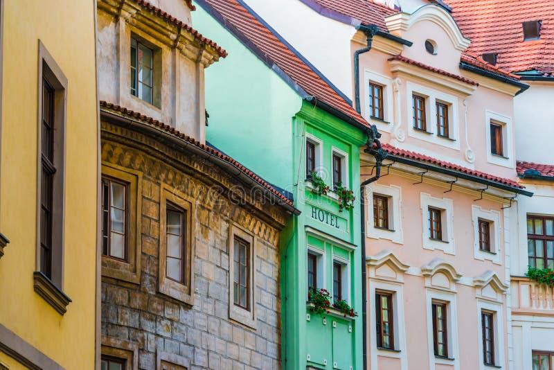 Historic architecture of downtown Prague, Czech Republic stock image