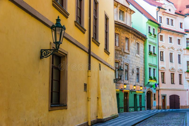 Historic architecture of downtown Prague, Czech Republic royalty free stock photography