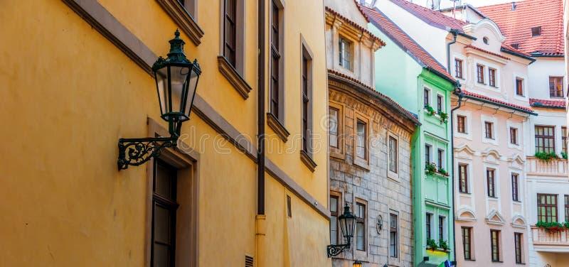 Historic architecture of downtown Prague, Czech Republic royalty free stock photos