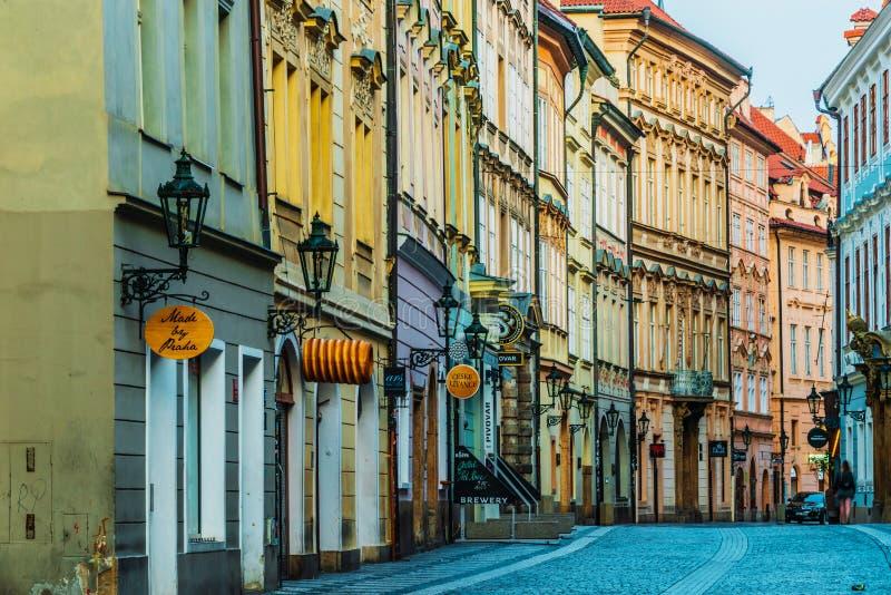 Historic architecture of downtown Prague, Czech Republic stock photography