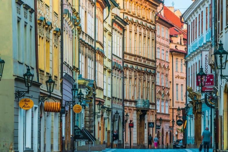 Historic architecture of downtown Prague, Czech Republic stock photos