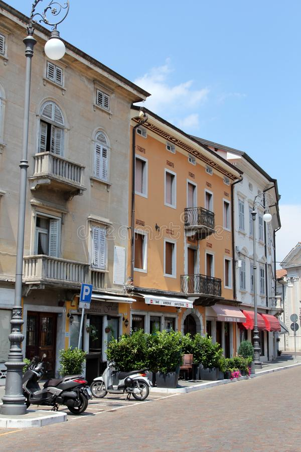 Gorizia, Italy. Historic architecture of Gorizia, Italy stock images