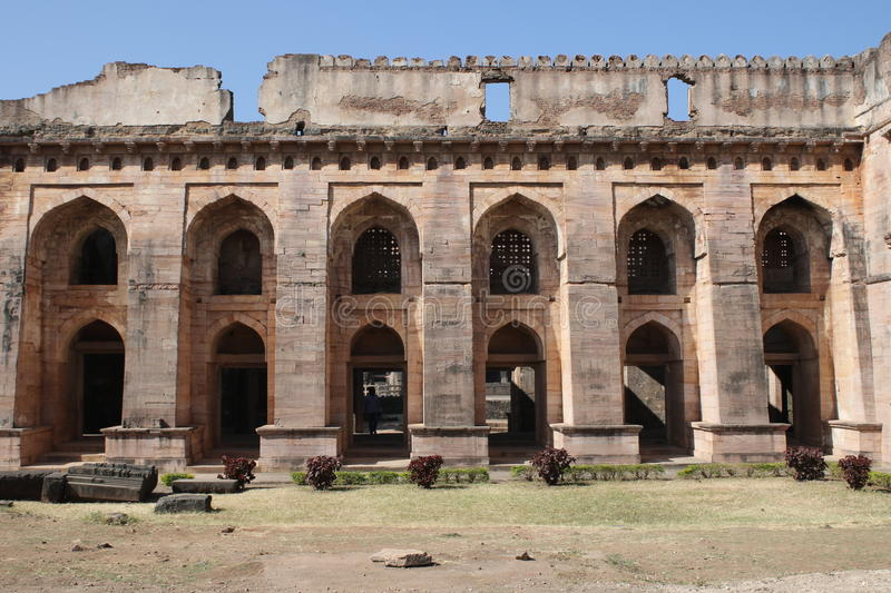 Historic architecture, hindola mahal stock images