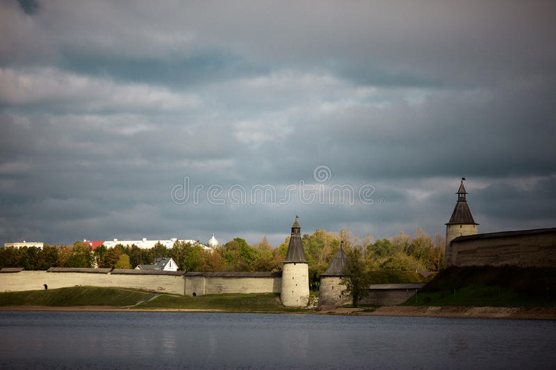 The historic architecture of the Slavs stock photo