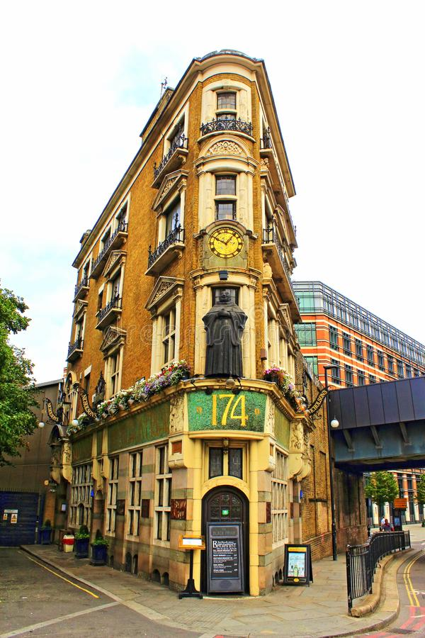 picturesque corner building blackfriar london uk editorial image