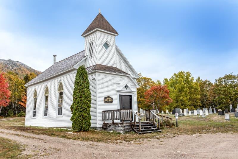Historic Aspy bay united church. Old historic Aspy bay united church royalty free stock photography