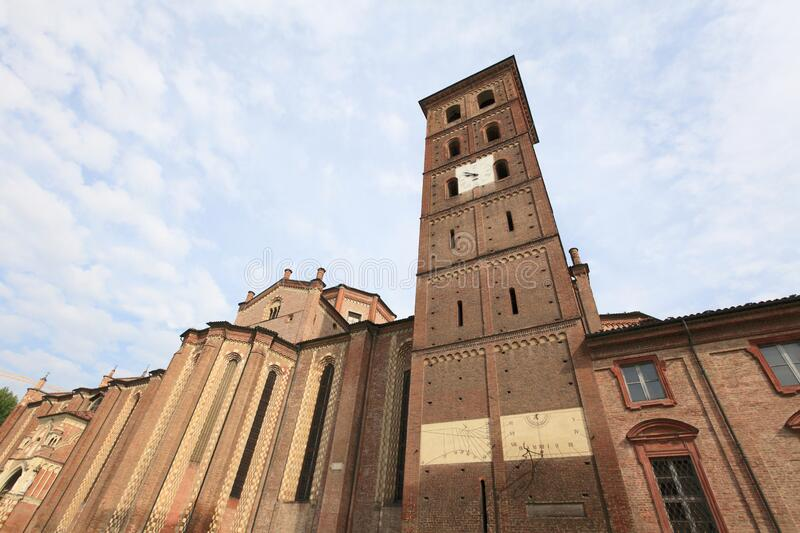 Historic Asti cathedral stock image