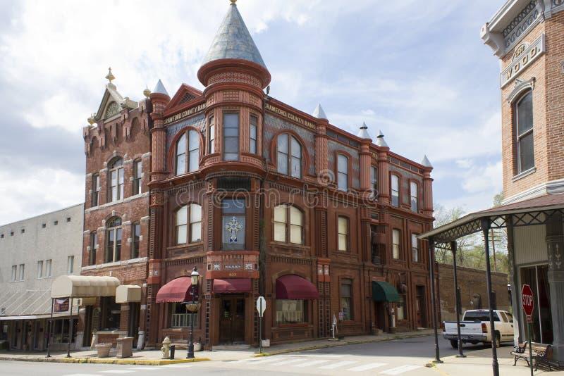 Historic Bank Building in Van Buren Arkansas stock images