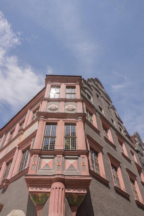 Historic bay window in Goerlitz, Germany stock images