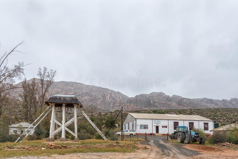 Historic bells and the Original Rooibos Cooperation in Wupperthal royalty free stock image