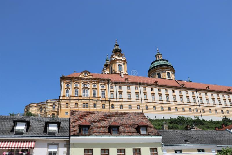 Melk Abbey, Austria stock photography