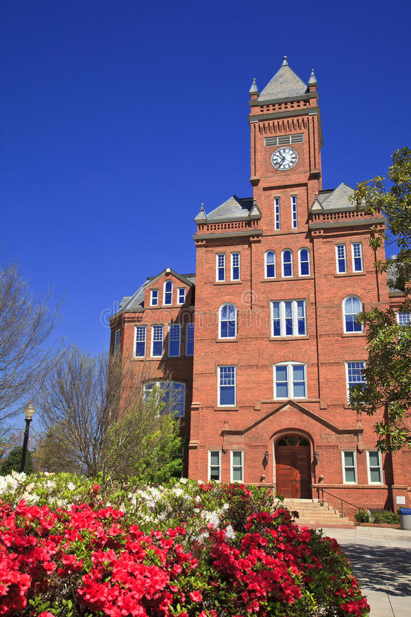 Historic Biddle Hall at Johnson C. Smith stock photography