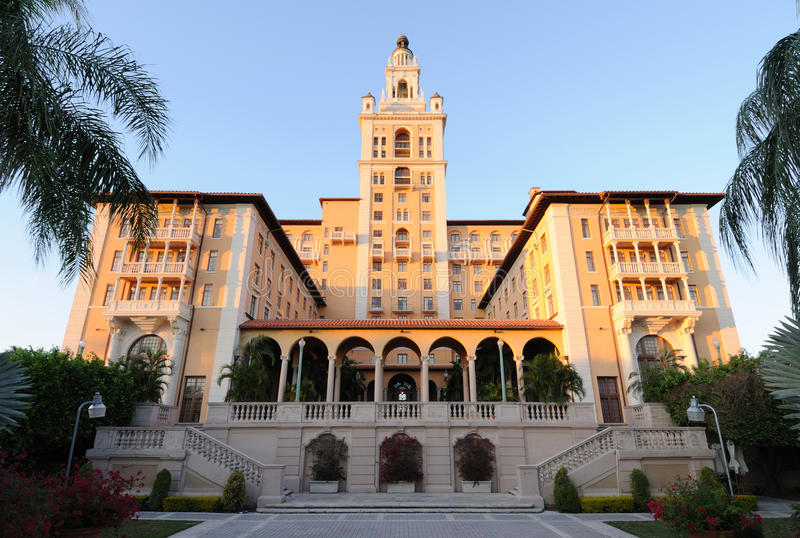 Historic Biltmore Hotel in Miami royalty free stock photography