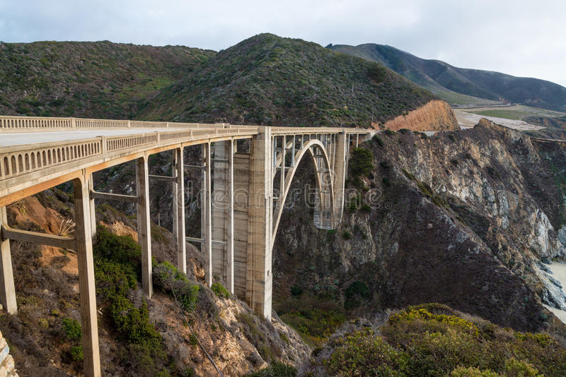 Download The Historic Bixby Bridge.  Pacific Coast Highway California Stock Image - Image: 40104503