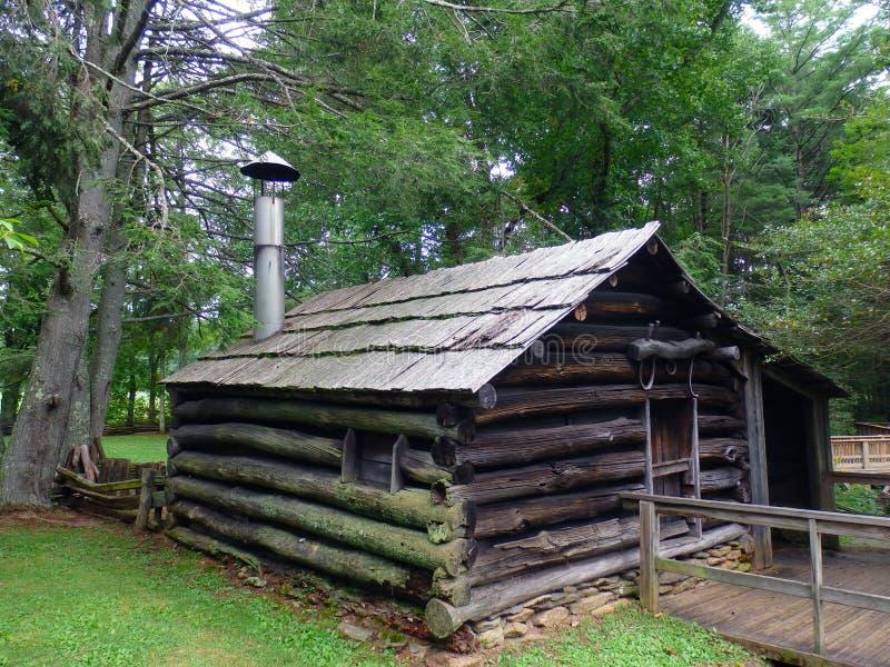 An historic blacksmith shop at mabry mill stock photos
