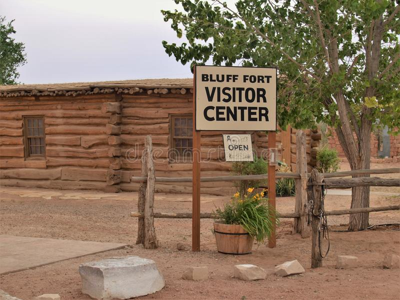Bluff Fort Historic Site in Bluff, Utah royalty free stock photography