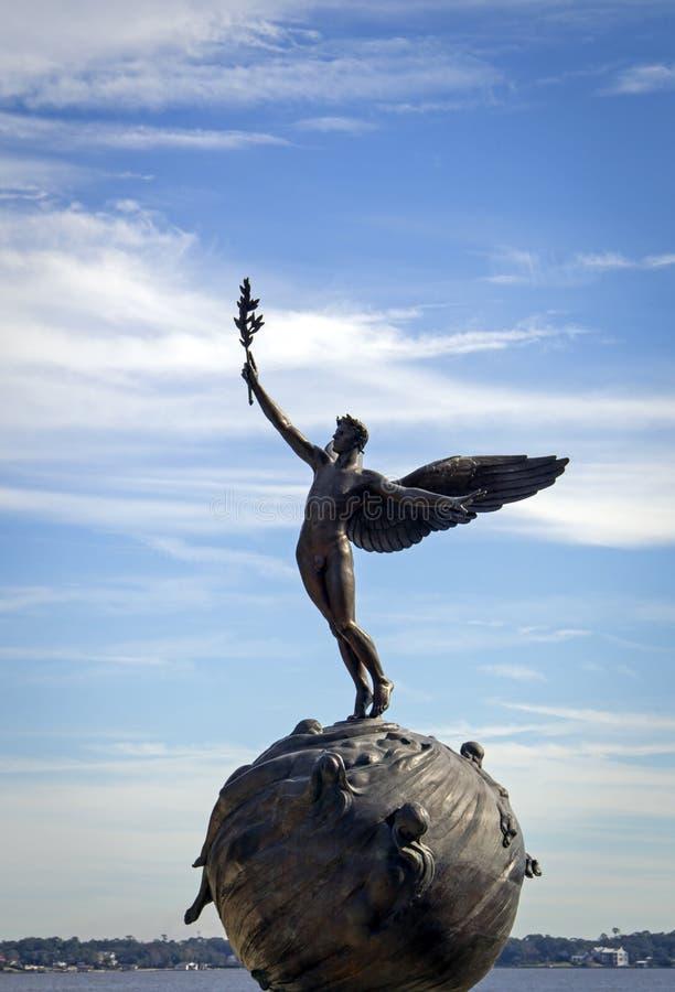 Historic bronze sculpture, Jacksonville Florida royalty free stock photos