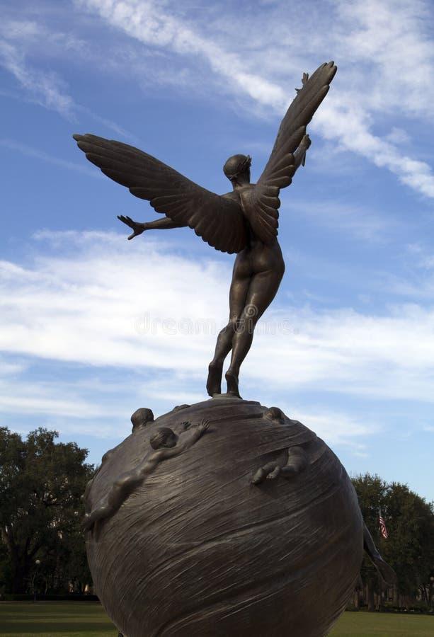 Historic bronze sculpture, Jacksonville Florida royalty free stock images