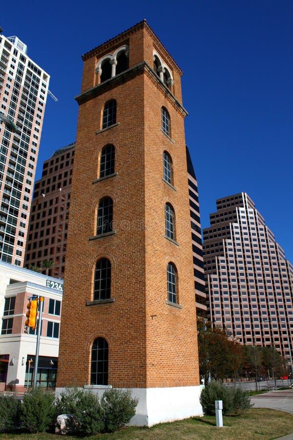 Historic buford tower downtown austin texas. Looking up at Buford Tower in downtown Austin, Texas royalty free stock photos