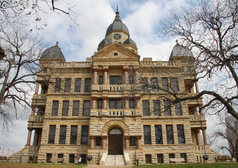 Download Denton County Courthouse stock image. Image of structure - 30129583