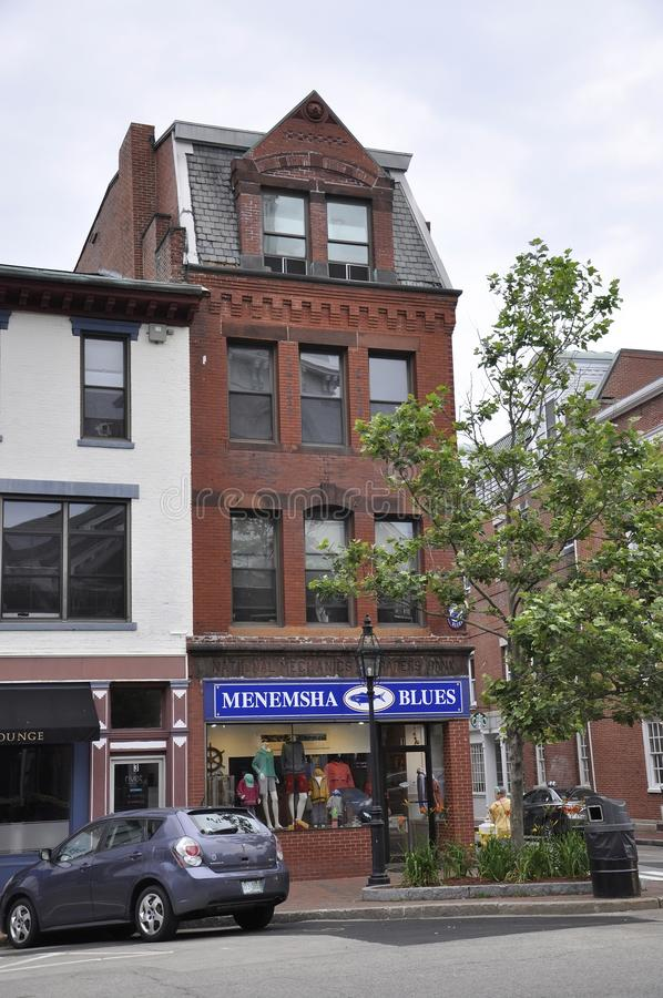 Portsmouth, 30th June: Historic Building from Downtown Portsmouth in New Hampshire of USA royalty free stock photography