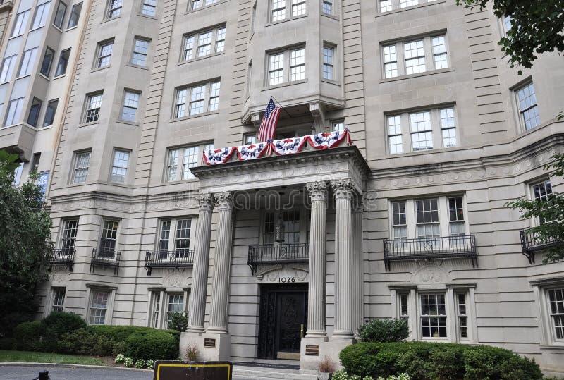 Washington DC, July 4th 2017: Historic Building entrance from Washington District of Columbia USA stock image