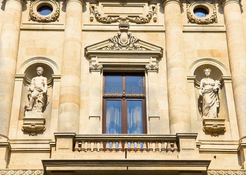 Historic building facade - Bucharest royalty free stock photos